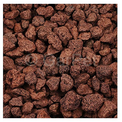 Lavastein Lava Kies Granu Grill Filtermaterial Garten Aquarium Mulch Vulkanstein Rot 20 L 16-32 mm