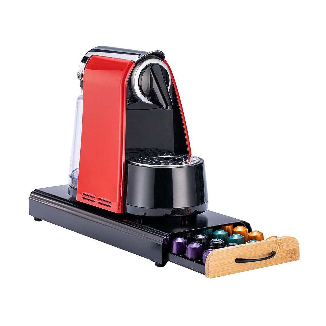 FlagShip Coffee Capsule Drawer Display Storage Pod Holder for Nespresso Originaline (40 Pods Wood)
