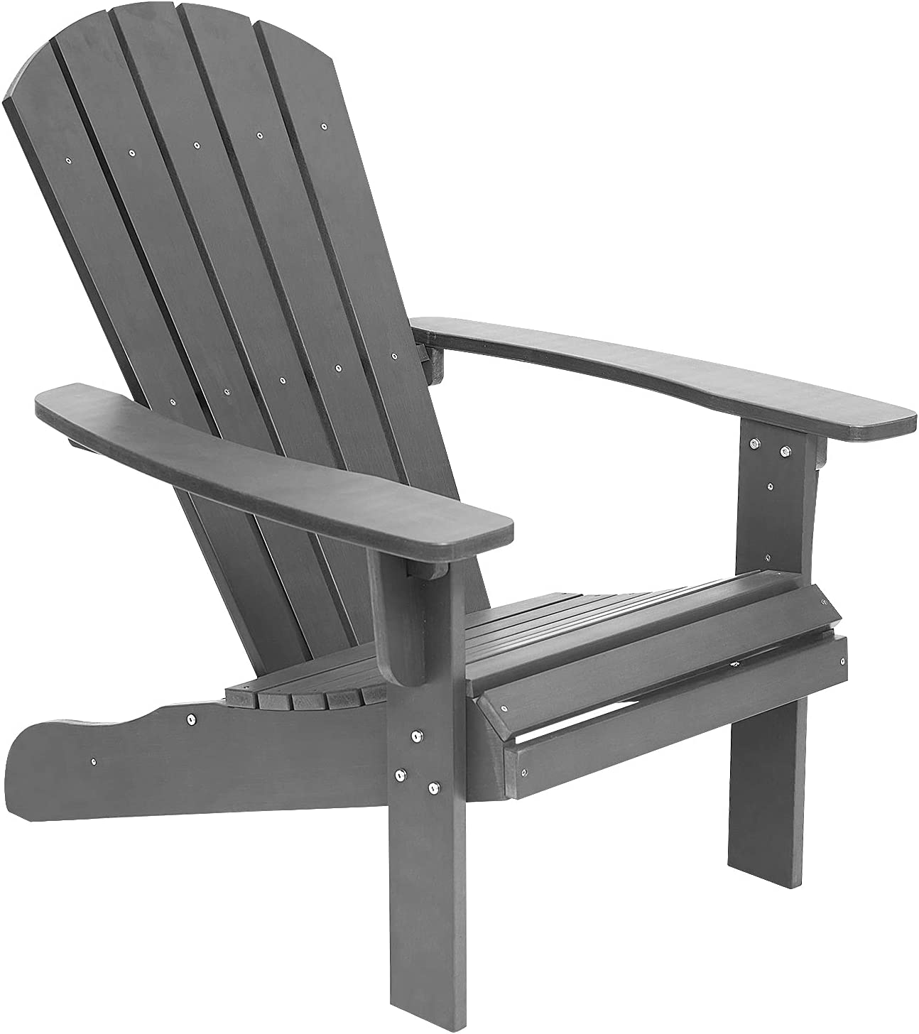 Juserox Adirondack Chair Weather Resistant Patio Outdoor Lawn Chairs Painted Adirondack Chair for Patio, Fire Pit, Garden, Backyard(Grey) : Patio, Lawn & Garden