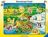 Ravensburger Kinderpuzzle 06052 - Zoobesuch - Rahmenpuzzle