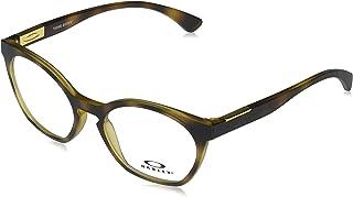 Oakley Women's OX8168 Tone Down Round Prescription Eyewear Frames, Satin Brown Tortoise/Demo Lens, 50mm