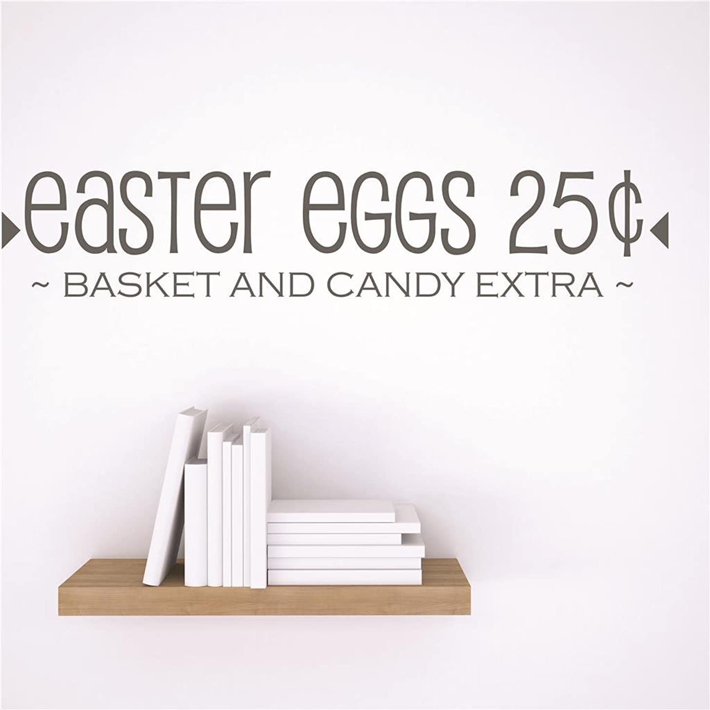 Discounted Sticker Decal : easter eggs 25¢ ~BASKET AND CANDY EXTA~ Holiday Decoration Quote Size: 6 Inches x 30 Inches - 22 Colors Available