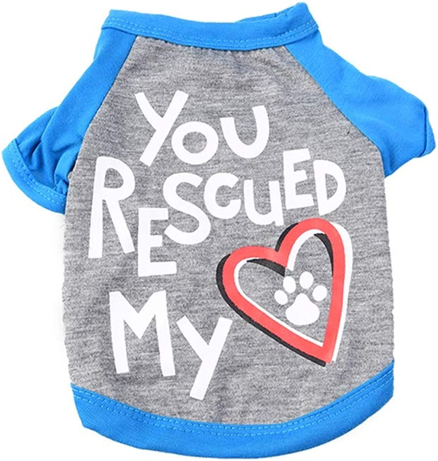 LSLMCS Pet Supplies Small Dog T Shirt for TwoLegged Clothes Cat Puppies Clothing Teddy Bear Puppy Vest Costume Spring and Summer,bluee, Pink, (XSL) (color   bluee, Size   M)