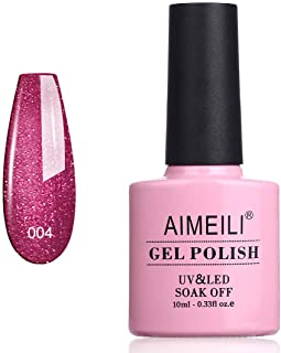 AIMEILI Soak Off UV LED Gel Nail Polish - Red Baroness (004) 10ml