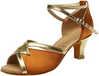 vermers Women's Dance Shoes Sandals Fashion Rumba Waltz Prom Ballroom Latin Salsa Dance Shoes Buckle Strap Sandals