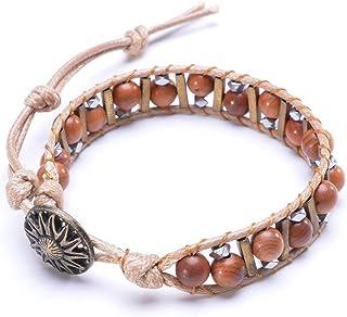 موفرغو بوهو الخشب الطبيعي مطرز اليدوية نسج اليوغا هيبي أساور للنساء الرجال مجوهرات