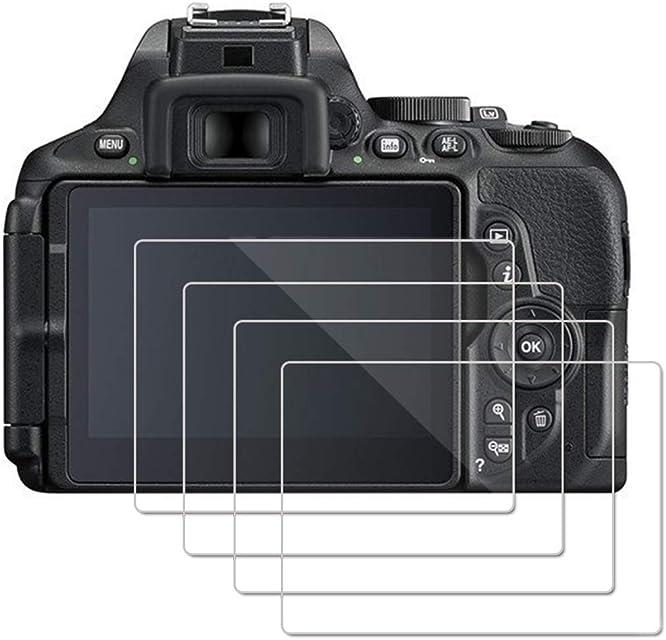 (4 Piezas) OOTSR Protector de Pantalla para Nikon D5600 D5500 D5300 Protector de Vidrio Templado para Nikon D5500 D5300 D5600 [Alta definición] [Fácil instalación]