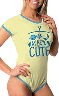 Littletude ABDL Onesie | Adult Baby Snap Crotch Romper Style | Way Beyond Cute | Yellow