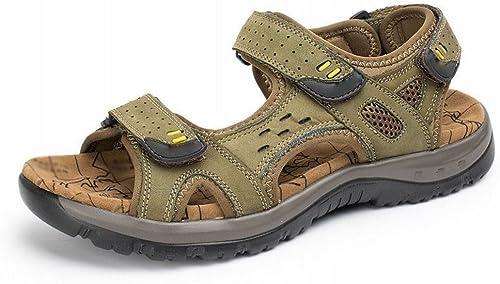 SLR Les Hommes de Grande Taille Sandales d'été en Plein air décontracté Plage Chaussures Hommes Creux Pantoufles Hommes Sandales Plates