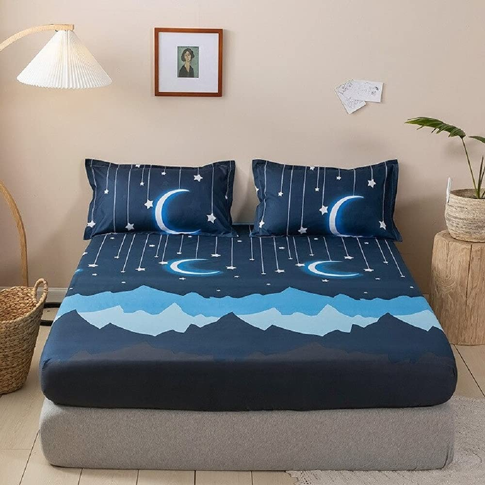 Print Furnishing Bed with Max 58% OFF Pillowcase Sheets Protective Memphis Mall 3 Mattres