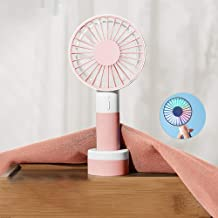 YXZQ Handheld Fan, Mini USB with 3 Speeds 1200mah Rechargeable Battery Desktop/Handheld 2 in 1 Strong Airflow but Whisper ...