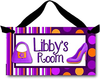 Toad and Lily Little Diva Girls Bedroom Personalized Name Sign DOOR SIGN Wall Art DS0190
