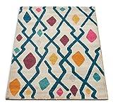 Well Woven Firenze Santa Fe Mid-Century Modern Geometric Trellis Distressed Multi Accent Rug 2' x 3' Doormat