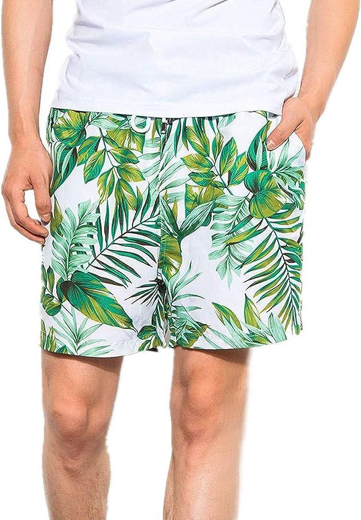 MODOQO Mens Swim Shorts Trunks, Quick Dry Casual Loose Fit Swimming Pants Beachwear