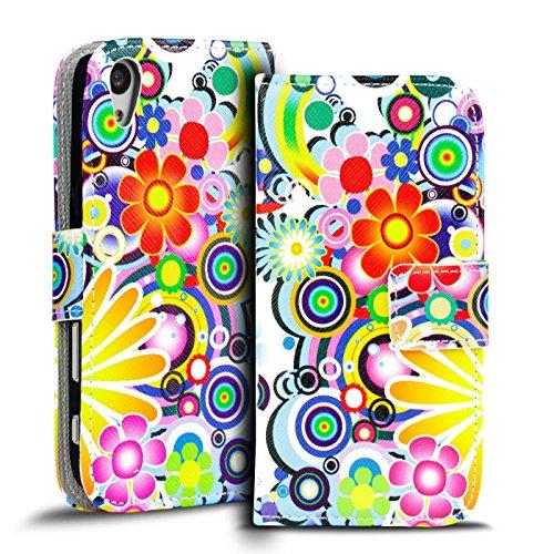 Verco Handyhülle Xperia M4 Aqua Muster, Motiv Hülle Sony Xperia M4 Aqua Book Hülle Flip Cover - Design 3
