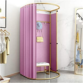 GDMING Clothing Store Fitting Room, Floor-standing Temporary Changing Room, Foldable Locker Room Curtain Kit, For The Mall...