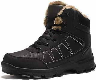 Warm Men Boots Waterproof Leather Outdoor Men Boots Fur Ankle Boots Plush Snow Boots Men Shoes