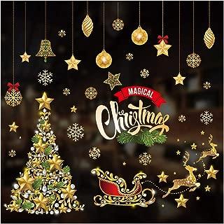 TiooDre Pegatinas de Ventana, Pared de la Ventana de Navidad Etiqueta del Ornamento del Arte del Vinilo removible dirigen la Etiqueta de la decoración, los 70 * 50cm