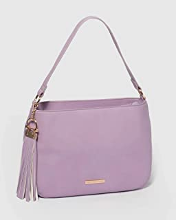 Purple Carla Tassel Tote Bag
