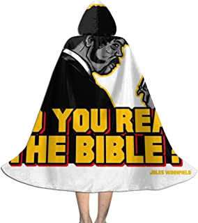 NSHANGMA The Shepherd Jules Winnfield Pulp Fiction Unisex Hooded Cloak Cape Halloween Party Decoration Role Cosplay Costumes Black