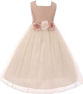 6151a6c28d Classic Silk Bodice Elegant Waist Little Girl Graduation Flower Girls  Dresses