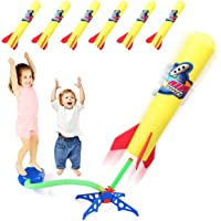 Duckura Kids Jump Rocket Launchers with 6 Foam Rockets