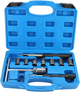 Qiilu 10Pcs Diesel Injector Seat Cleaner Cutter Re-Face Score Tool Kit