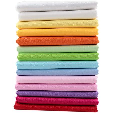 belle qualité lot de coupons de tissu coton fantaisie et uni