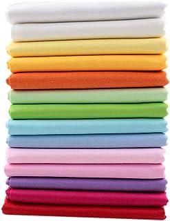 comprar comparacion 14 unids 40 cm * 50 cm Tela de Algodón Sólido Liso Para Coser Acolchado Patchwork Textil Tilda Muñeca Paño Del Cuerpo