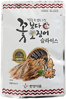 Korea Seasoned Dried Squid Snack Squid Over Flower 15g X 10 Pack ??????