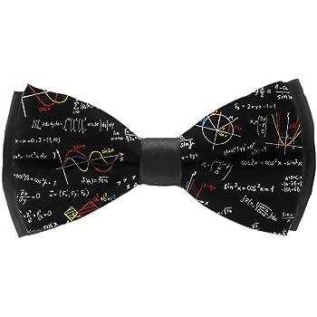 Back to School Algebra Black Adjustable Party Bow Tie INWANZI Elegant Pre-Tied Bowtie for Men /& Boys