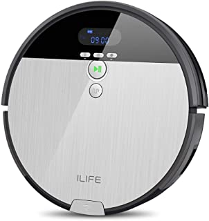 ILIFE Robot Vacuum. V8s, 2-in-1 Mopping,Big 750ml Dustbin,Enhanced Suction Inlet,ZigZag Cleaning Path,Ideal for Pet Hair,S...