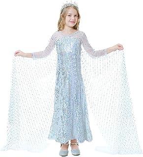 ocarseii Girls Shining Princess Dress Halloween Dress Fancy Dress Party Dress 3 Pcs