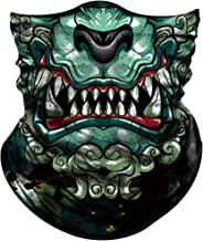 Obacle Face Mask for Sun Protection Men Women Motorcycle Half Face Mask for Dust Wind Seamless Bandana Fishing Hunting Running Workout Festival Rave Tube Mask Neck Gaiter Multifunctional UV Headwear