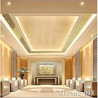 Alrens_DIY(TM) 20pcs House Top Ceiling Mirror Wall Decoration 3D Wall Mirror Sticker 3D Home Decal Living Room Murals Wall Paper Decor Gift (Gold)