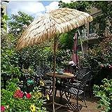 Tropical Style Thatched Tiki Umbrella,Durable Analog Grass Beach Umbrella,for Bars Gardens terraces Beach Umbrellas for Sand Heavy Duty Wind