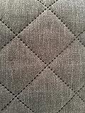 Stoff-ConneXion Gesteppter Polsterstoff grau 150 cm breit