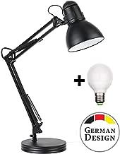 Retro Arbeitsplatzlampe Leselampe Schreibtischlampe Arbeitsplatz-leuchte Schreibtisch-Leuchte mit Gelenk-Arm aus Metall inkl. LED Glühbirne