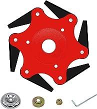 CZS Outdoor Trimmer Head Brush Cutter Blade 65Mn Lawn Mower Head Accessories 6 Steel..