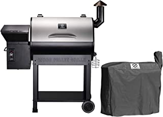 Z GRILLS ZPG-7002E Wood Pellet Grill Smoker for Outdoor Cooking with Cover