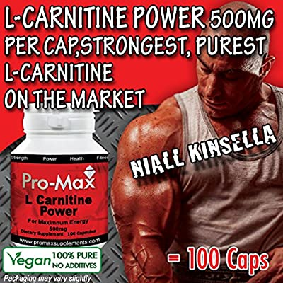 L-Carnitine Power 90 Caps- Strongest Advanced Energy, Performance and Recovery. Promotes Extreme Muscle Growth, Fatburner Weight Loss. Vegetarian/Vegan Capsules