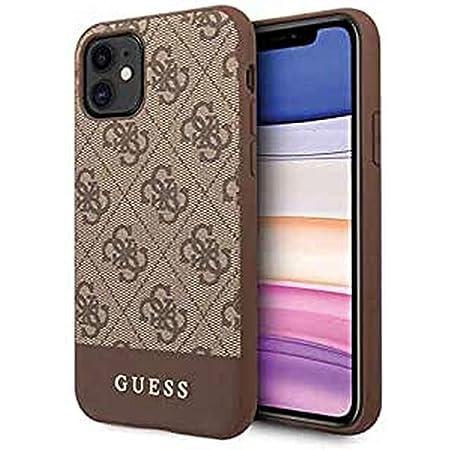 Guess Hülle Glitter 4g Stripe Collection Für Iphone 11 Braun Elektronik