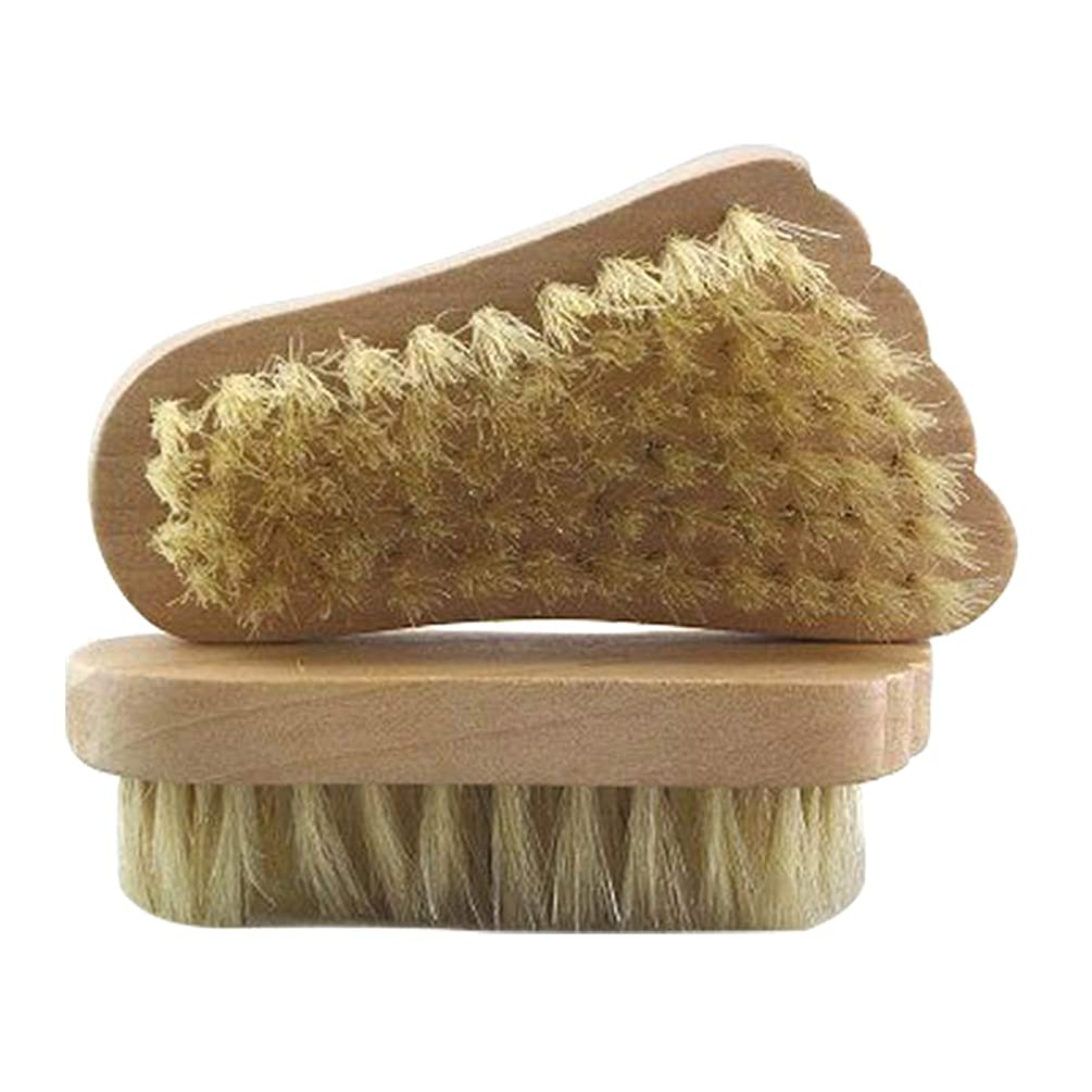 バリー隠気分フットブラシ ボディブラシ 浴用ブラシ 豚毛 天然毛 足軽石の足爪ブラシ 角質除去 2個