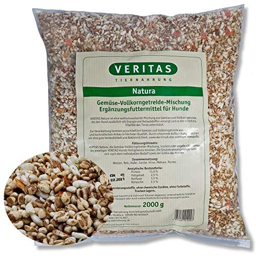 veritas Natura Gemüsemix für Hunde – Gemüse Vollkorngetreide Mischung Mix I Gemüseflocken Ergänzungsfutter Hundeflocken Flockenmischung (2 kg)