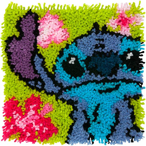 Dimensions Arts and Crafts Lilo and Stitch Latch Hook Kit, Finished size: 12'' x...
