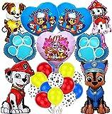 Paw Patrol Cumpleaños Globos,29 piezas Paw Patrol globos de decoración de cumpleaños decoración de fiesta decoraciones de cumpleaños regalo para niños…