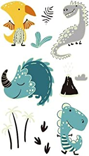 CQHUI Lichtgevende dinosaurus kinderen tattoo stickers cartoon plezier gloeiende stickers tijdelijk op gezicht arm been vo...