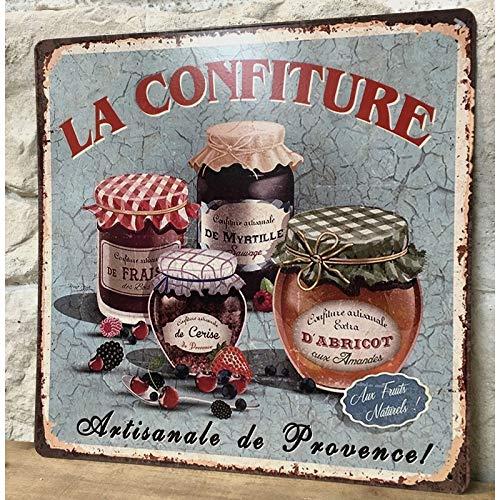 chemin_de_campagne Plaque Pub Plaque Retro Plaque Vintage Tableau Métal Fer La Confiture 30 cm x 30 cm x 0.1 cm