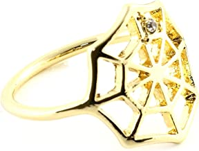 Magic Metal Spider Web Ring Gold Tone Gothic Outline Statement RM05 Fashion Jewelry