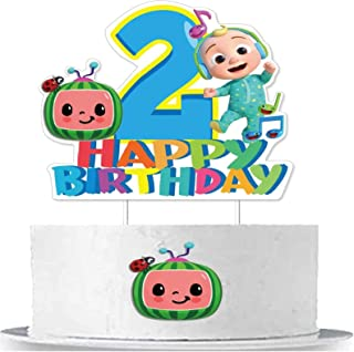 Cake Topper Birthday Cake Decoration for 2nd Birthday, Fufangtao Cupcake Toppers Decoration for Boy and Girl Kids, Party Decoration Supplies , Cake Toppers Decoration for Baby Party
